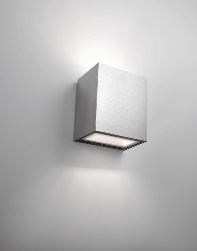 Philips Flagstone wandlamp roestvrijstaal