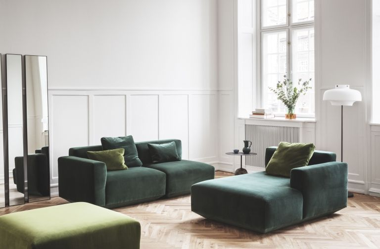 &tradition Develius bank 3-zits met chaise longue rechts