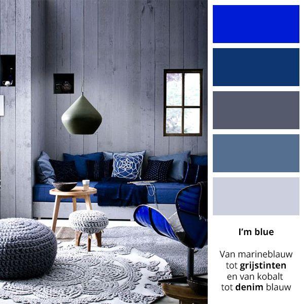 beeld combineer je blauw met zilvergrijs dan ontstaat er een oosterse uitstraling met het forest muses blue behang van graham brown maak je het