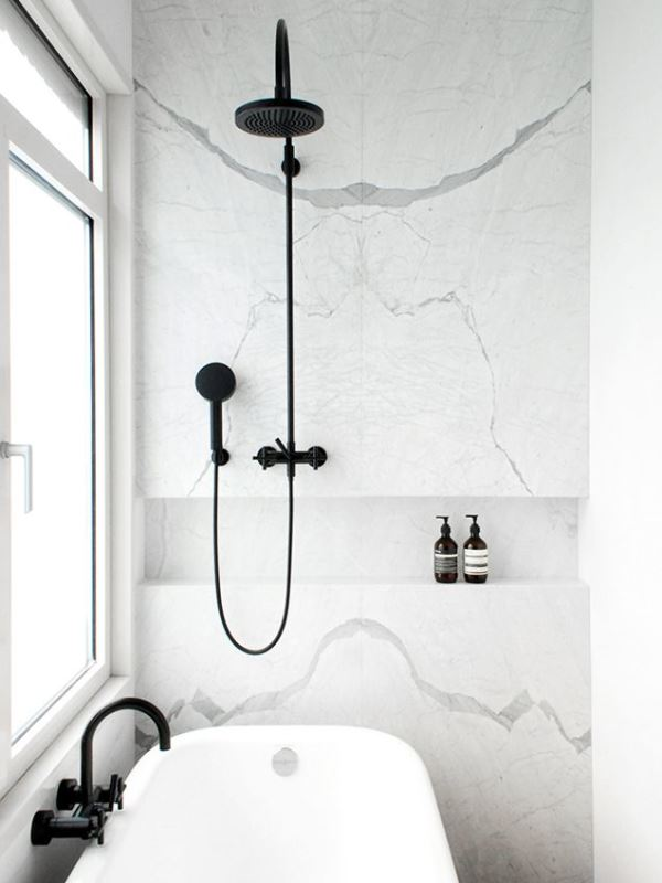 marmer vloer badkamer: home id badkamer door grillo natuursteen, Badkamer